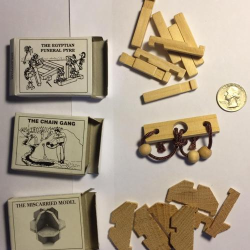 Set of Three Small Puzzles