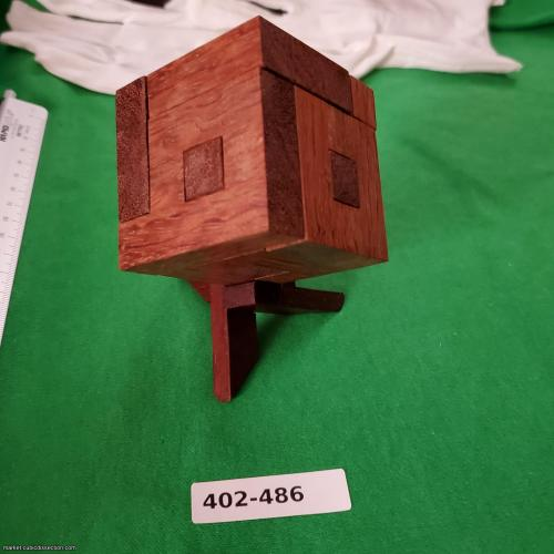 Holey Squares Cube (TW-65) by Trevor Wood [402-486]