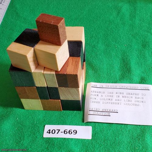 The 1½ Triple Chequered Cube [407-669]