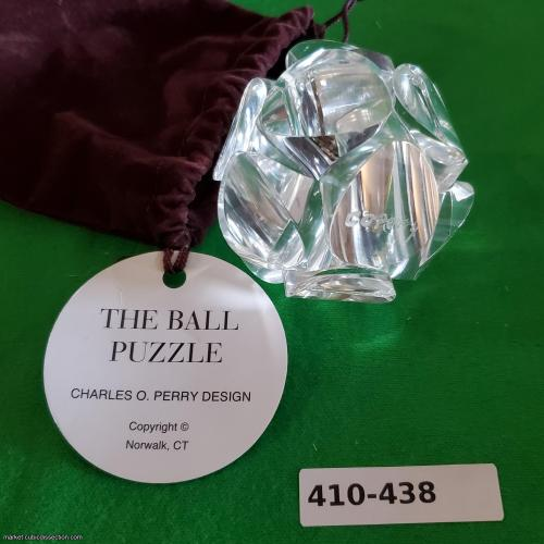Charles Perry signed original Plexiglas Ball Puzzle [410-438]