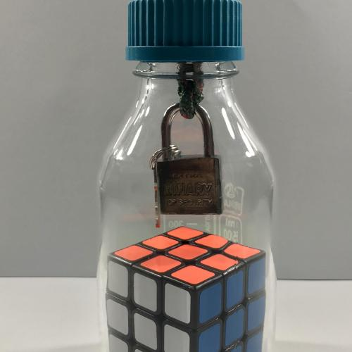 Cube in a bottle