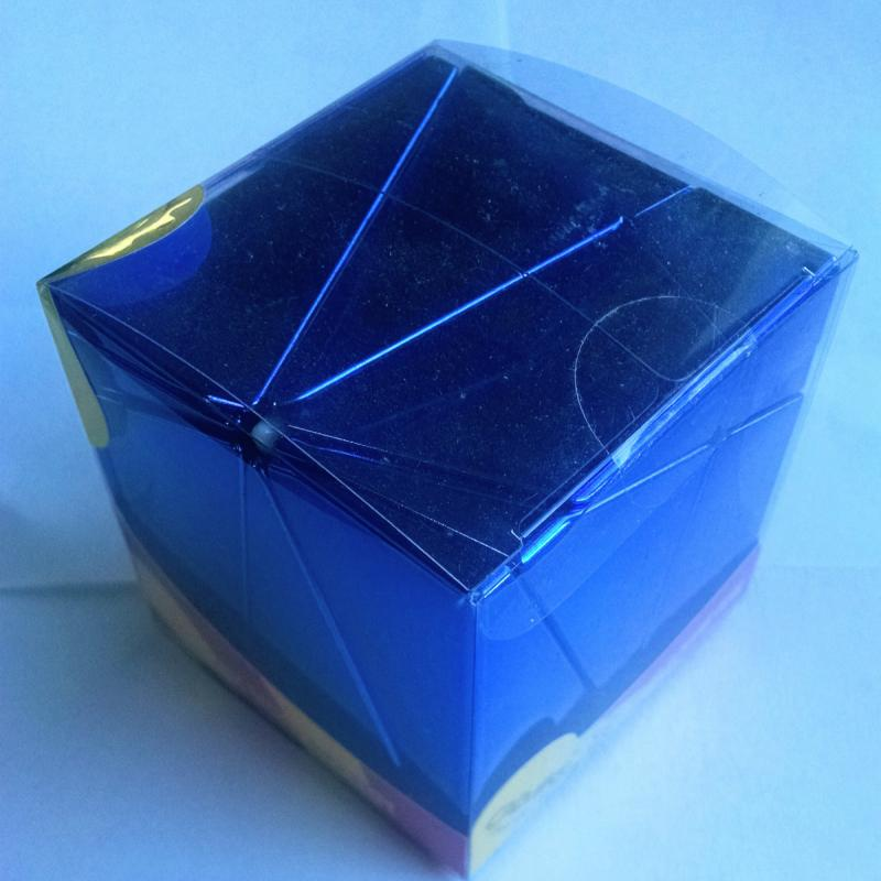 Blue Metallised Pitcher Cube from Calvin's Puzzles