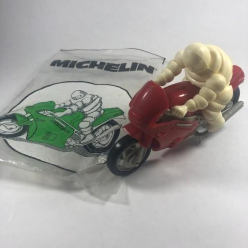 Michelin Man Motorcycle Assembly Puzzle - Red Version w/ Bag RARE!!