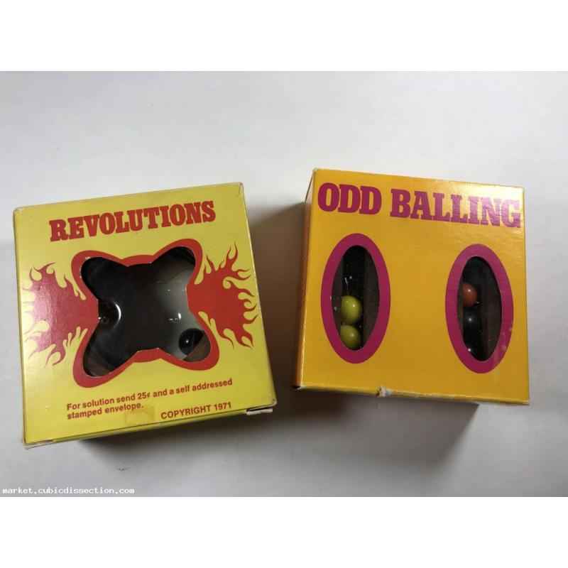 Odd Balling & Revolutions Four Generations Vintage Dexterity Puzzles
