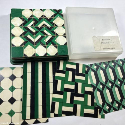 Puzlasco Vintage 70s Matching Pattern Blocks