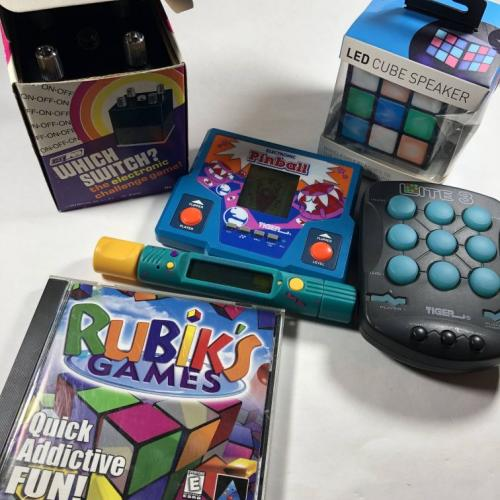 Electronic Puzzle Game Lot Rubiks