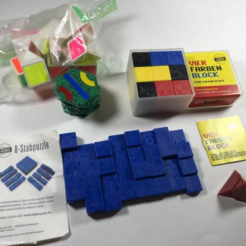 Puzzle Lot x5 Matching Assembly Tantrix Stabpuzzle Pyramid Vier Farben Block R-Cube
