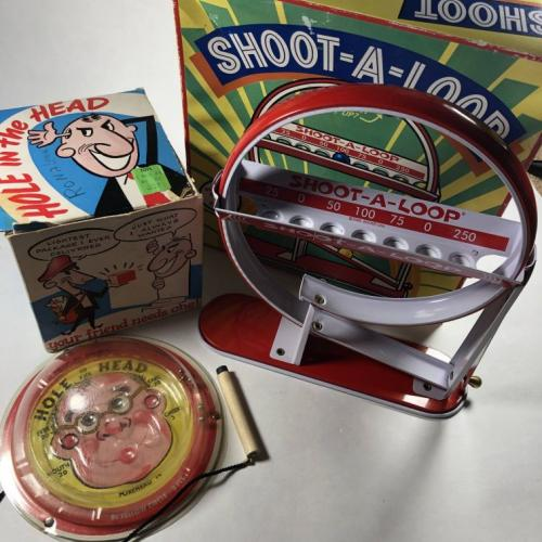 Lot of x2 Dexterity Games Shoot A Loop & Hole in the Head