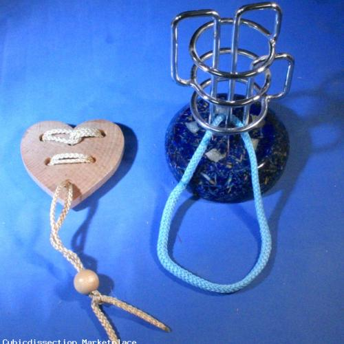 Classic Heart Puzzle and Tri-Ring puzzle