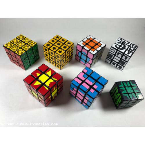 Twisty Puzzle 3x3x3 Sticker Mod Lot x7