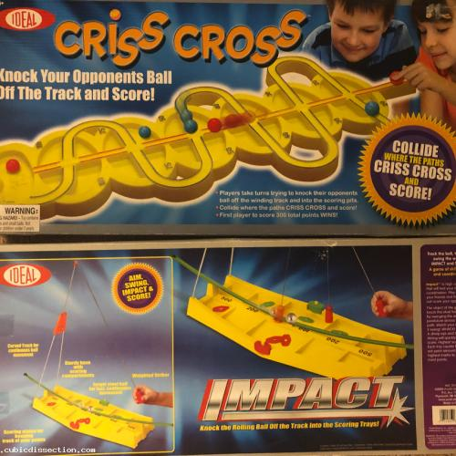 IDEAL Impact & Criss Cross - Out of Print Dexterity Game Lot