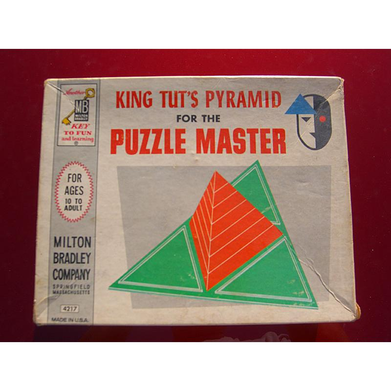 King Tuts Pyramid Milton Bradley 1962 Puzzle and Art! Rare!