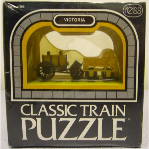 Vintage 3D Train Puzzle! Reiss Games Inc. NIB