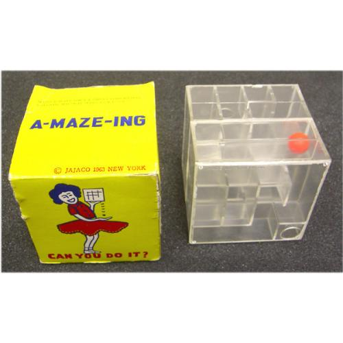 A-MAZE-ING Vintage Clear Cube Maze