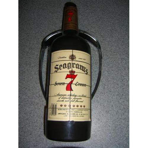 Seagrams Seven 7 Crown  Whiskey Puzzle Bottle