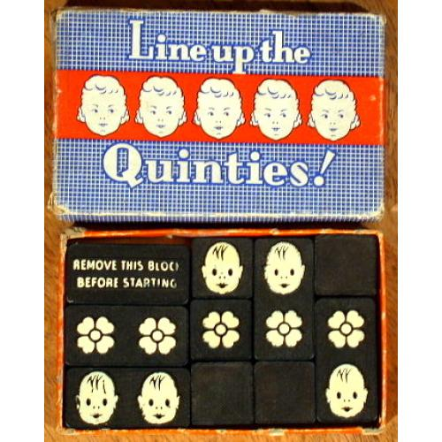 Line Up the Quinties, vintage sliding block puzzle
