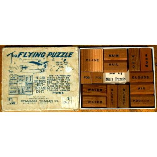 The Flying Puzzle, vintage sliding block puzzle