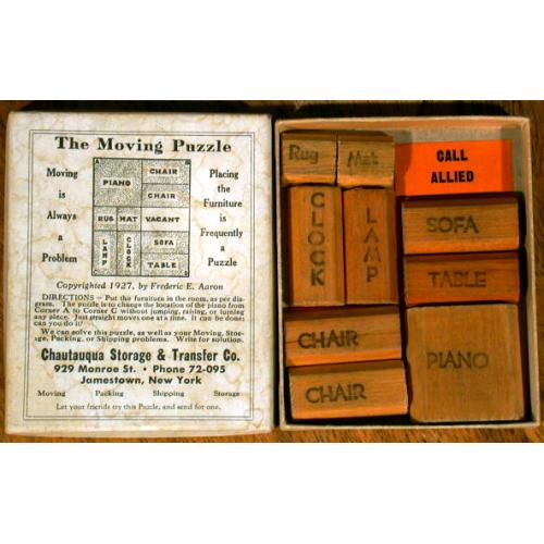 The Moving Puzzle, vintage sliding block puzzle