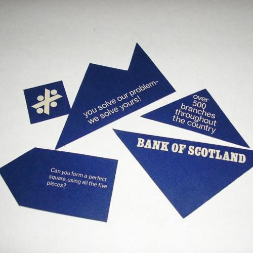 Bank of Scotland Cardboard Puzzle Giveaway, and one from van Wagenen