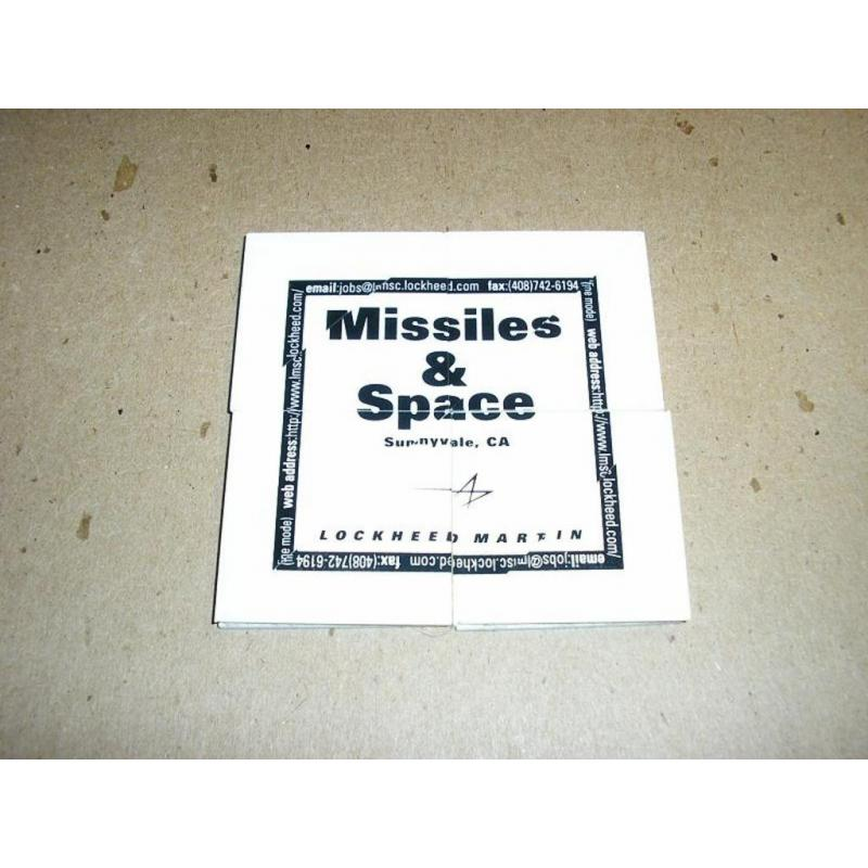 Lockheed Missiles and Space folding puzzle