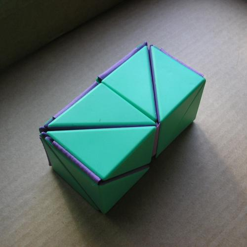 Folding 3D polyhedral puzzle