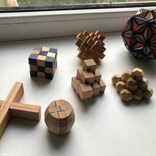 Lot of 7 Mechanical Puzzles